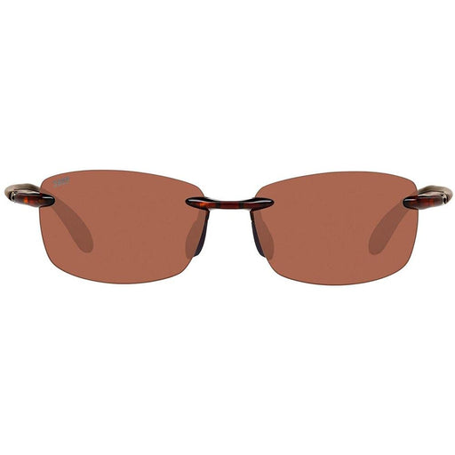 Costa del Mar Unisex Ballast Tortoise Frame Copper Polarized Lens Rimless Sunglasses - BA10OCP - WatchCo.com