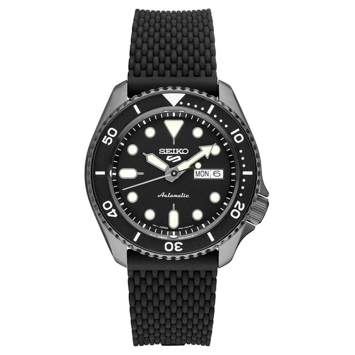 Seiko Mens Sports Black Dial Band Stainless Steel Watch - SRPE23
