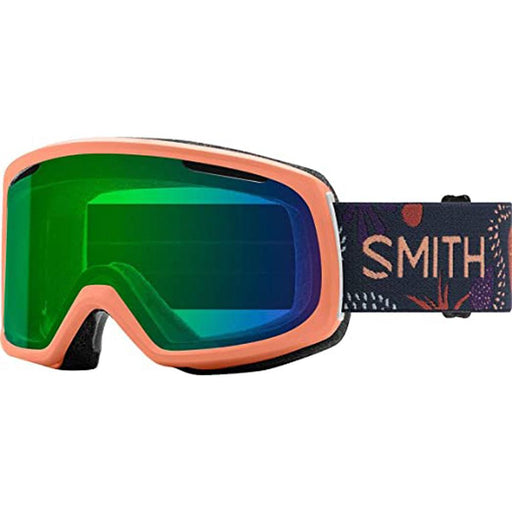 Smith Womens Riot Salmon Bedrock Frame Green Mirror Chromapop Lens Snow Goggle - M006722ZJ99XP - WatchCo.com