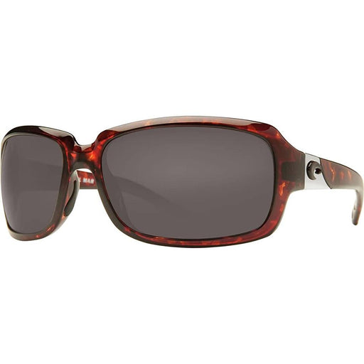 Costa Del Mar Womens Isabela Tortoise Frame Gray Polarized Lens Sunglasses - IB10OGP - WatchCo.com