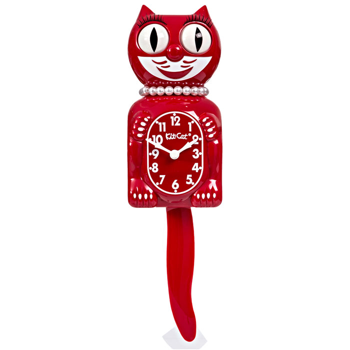 Kit Cat Scarlet Red Lady Klock - LBC-42