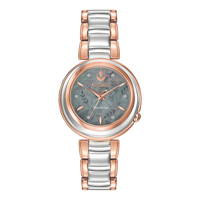 Citizen Women's Eco-Drive Disney Frozen 2 Anna Diamond Accent Gray Mother-of-Pearl Dial Analog Watch - EM0586-51Y