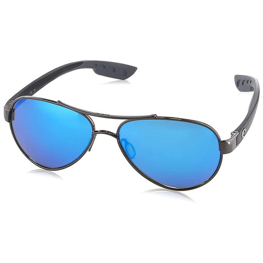 Costa Del Mar Womens Loreto Gunmetal Frame Grey Blue Mirror Polarized Lens Aviator Sunglasses - LR22OBMGLP - WatchCo.com