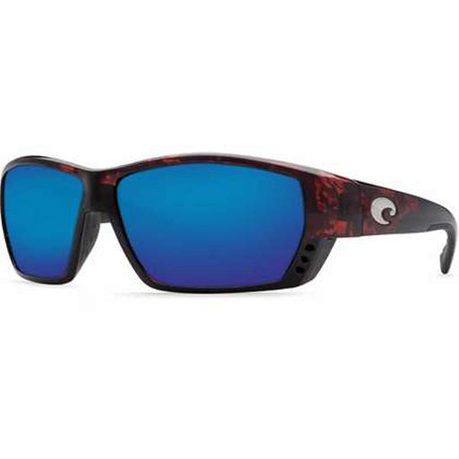 Costa Del Mar Mens Tuna Alley Tortoise Frame Blue Mirror Polarized Lens Sunglasses - TA10OBMGLP - WatchCo.com