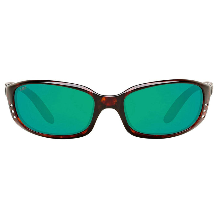 Costa Del Mar Mens Brine Tortoise Frame Copper Green Mirror Polarized 580p Lens Sunglasses - BR10OGMP