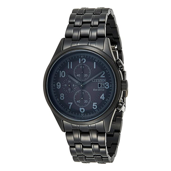 Citizen Mens Chandler Black Dial Ion-plated Stainless Steel Band Watch - CA0625-55E
