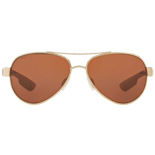 Costa Del Mar Womens Loreto Gold Tone Frame Copper Polarized Lens Aviator Sunglasses - LR64OCP - WatchCo.com