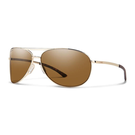 Smith Womens Serpico 2 Gold Frame Brown Polarized Lens Sunglasses - 200284J5G65SP - WatchCo.com