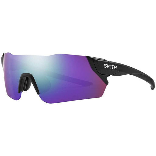 Smith Mens Attack MAG Matte Black Frame Violet Mirror Polarized Lens Sunglasses - 20042200399DI - WatchCo.com