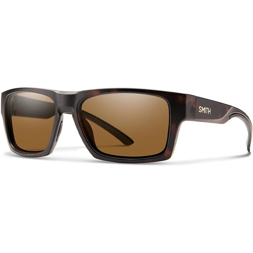 Smith Outlier 2 Unisex Matte Tortoise Frame Brown Polarized Lens Square Sunglasses - 20067051S56SP - WatchCo.com