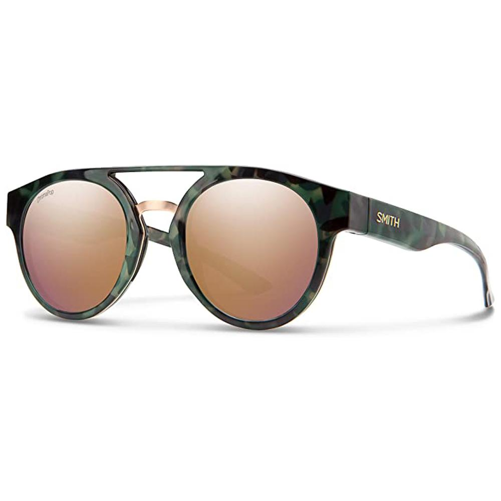 Smith Mens Range Camo Tortoise Frame Rose Gold Mirror Polarized Lens Sunglasses - 201270PHW509V