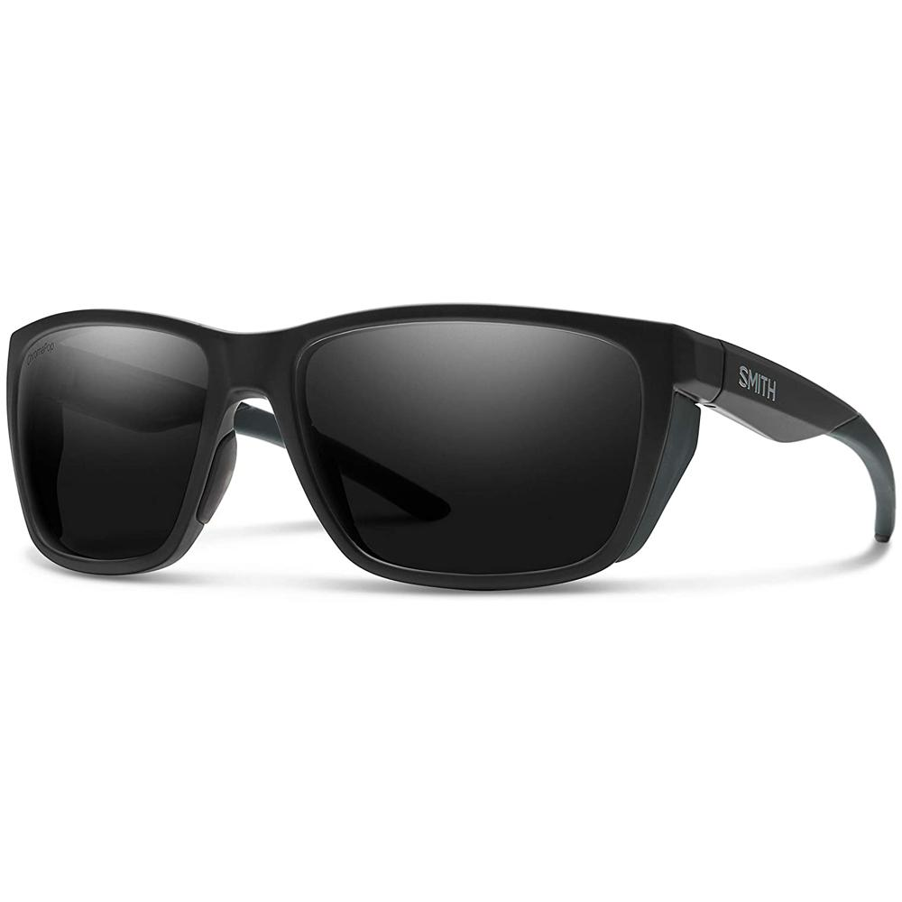 Smith Mens Longfin Matte Black Frame Black Polarized Lens Sunglasses - 201515003596N