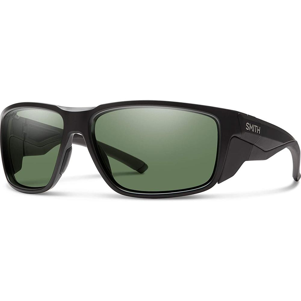 Smith Mens Freespool MAG Matte Black Frame Gray Green Mirror Polarized Lens Sunglasses - 20152000364L7