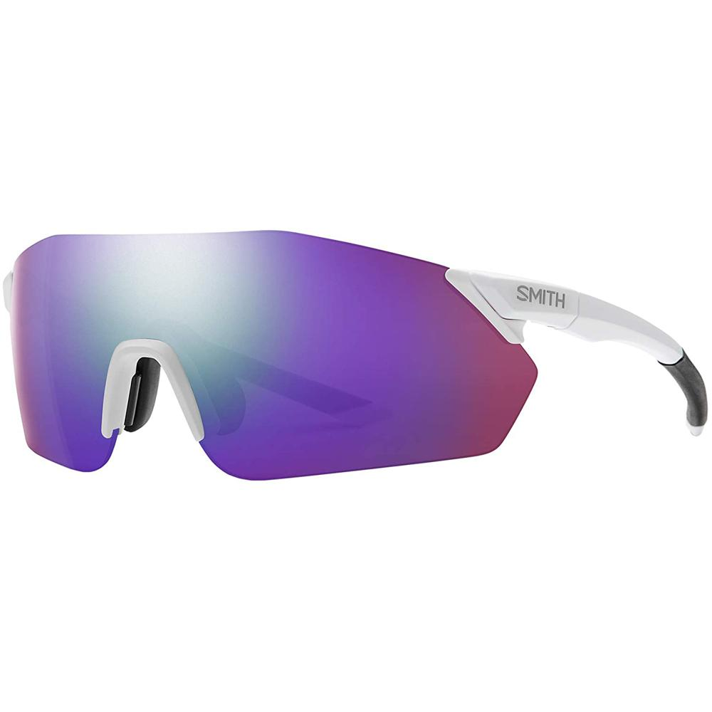 Smith Mens Reverb Matte White Frame Violet Mirror Lens Sunglasses - 2015216HT99DI
