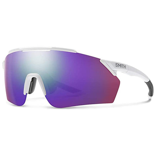 Smith Mens Ruckus Matte White Frame Violet Mirror Polarized Lens Sunglasses - 2015226HT99DI - WatchCo.com