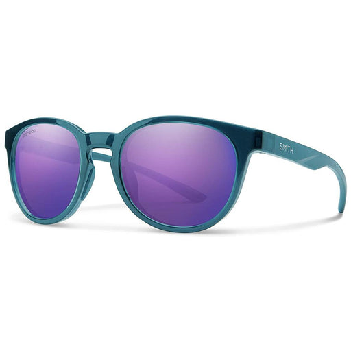 Smith Mens Eastbank Crystal Mediterranean Frame Violet Mirror Polarized Lens Sunglasses - 201932OXZ52DI - WatchCo.com