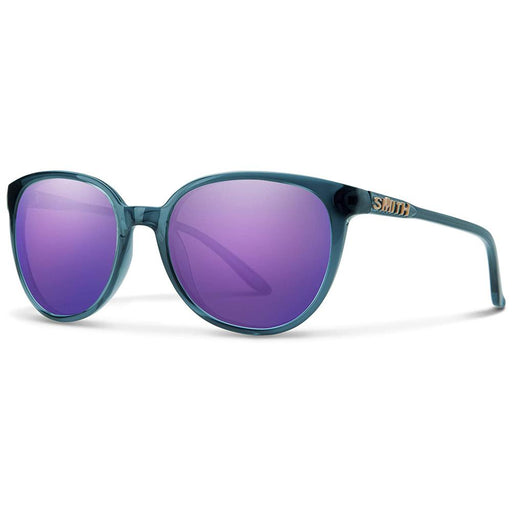 Smith Womens Cheetah Crystal Mediterranean Frame Violet Mirror Lens Sunglasses - 216801OXZ54TE - WatchCo.com