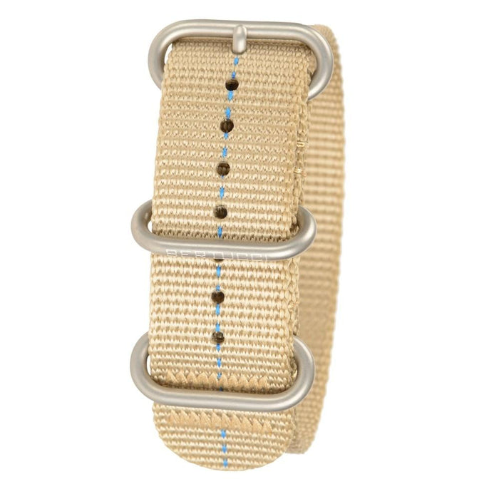 Bertucci Zulu Unisex Defender Khaki Nylon Band Stainless Steel Buckle 22mm Watch Band - B-224 - WatchCo.com