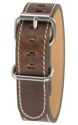 Bertucci Horween Unisex NutBrown Leather 19mm Watch Band - B-234M - WatchCo.com
