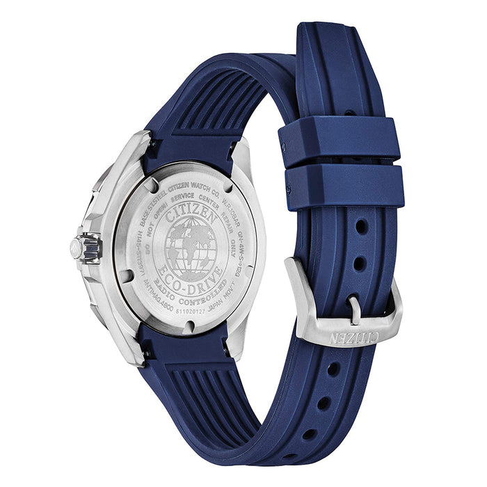 Citizen Eco-Drive Mens Blue Polyurethane Band Blue Quartz Dial Watch - BN0201-02M