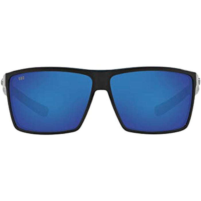 Costa Del Mar Mens Rincon Shiny Black Frame Blue Mirror Polarized Lens Sunglasses - RIN11OBMGLP - WatchCo.com