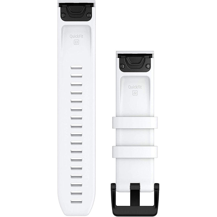 Garmin Quickfit 22 Watch Band White Silicon Strap - 010-12901-01