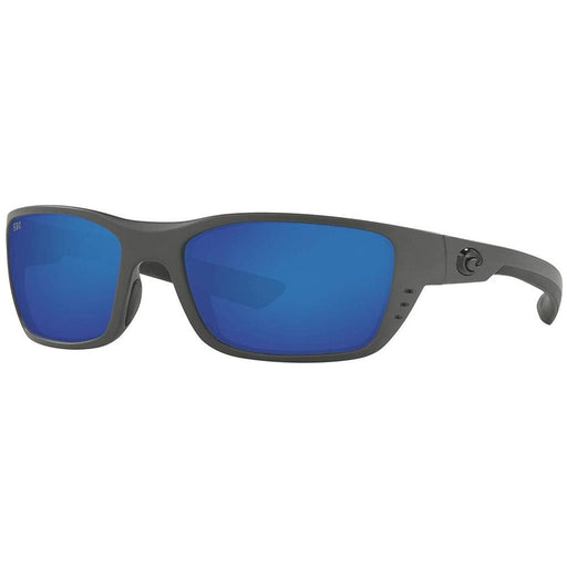 Costa Del Mar Mens Whitetip Matte Grey Frame Blue Mirror Polarized Lens Wrap Sunglasses - WTP98OBMGLP - WatchCo.com