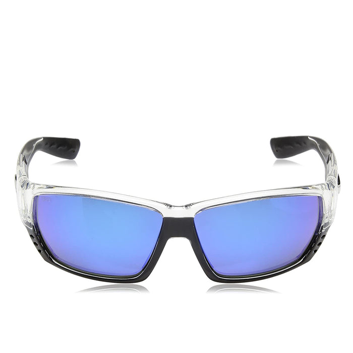 Costa Del Mar Mens Tuna Alley Crystal Frame Grey Blue Mirror Polarized-580g Sunglasses - TA39OBMGLP