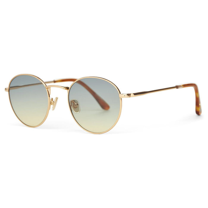 TOMS Brooklyn Shiny Yellow Gold Sunrise Gradient Lens Sunglasses - 10015509