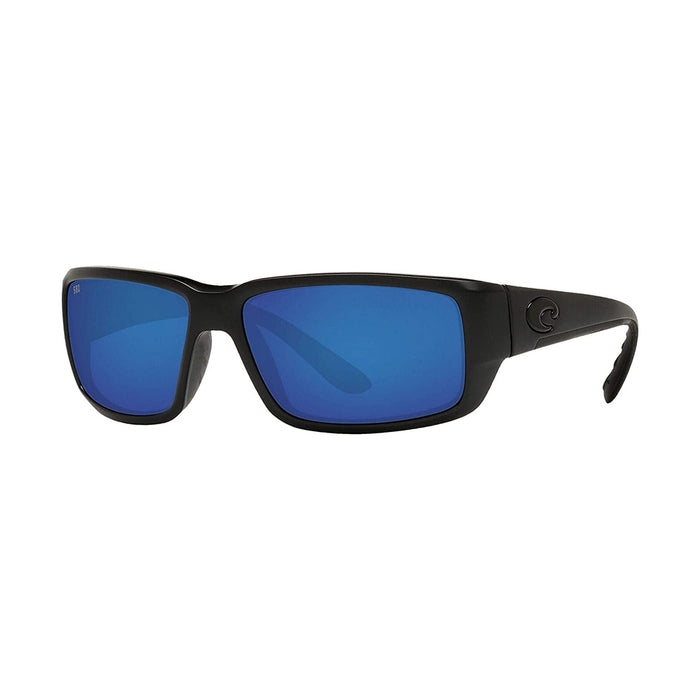 Costa Del Mar Mens Fantail Blackout Frame Grey Blue Mirror Polarized 580g Lens Sunglasses - TF01OBMGLP
