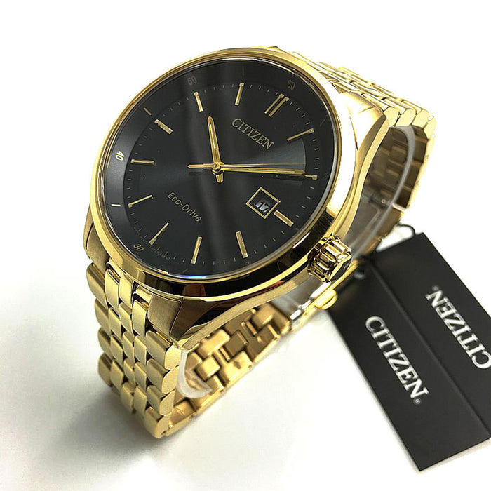 Citizen Mens Gold Stainless Steel Case Gold Stainless Steel Bracelet Watch - BM7252-51E