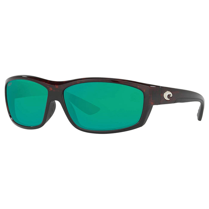 Costa Del Mar Mens Saltbreak Tortoise Plastic Frame Green Mirror Lens Sunglasses - BK10OGMP