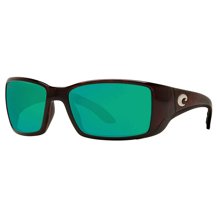 Costa Del Mar Mens Blackfin Tortoise Frame Copper Green Mirror Polarized 580p Lens Sunglasses - BL10OGMP