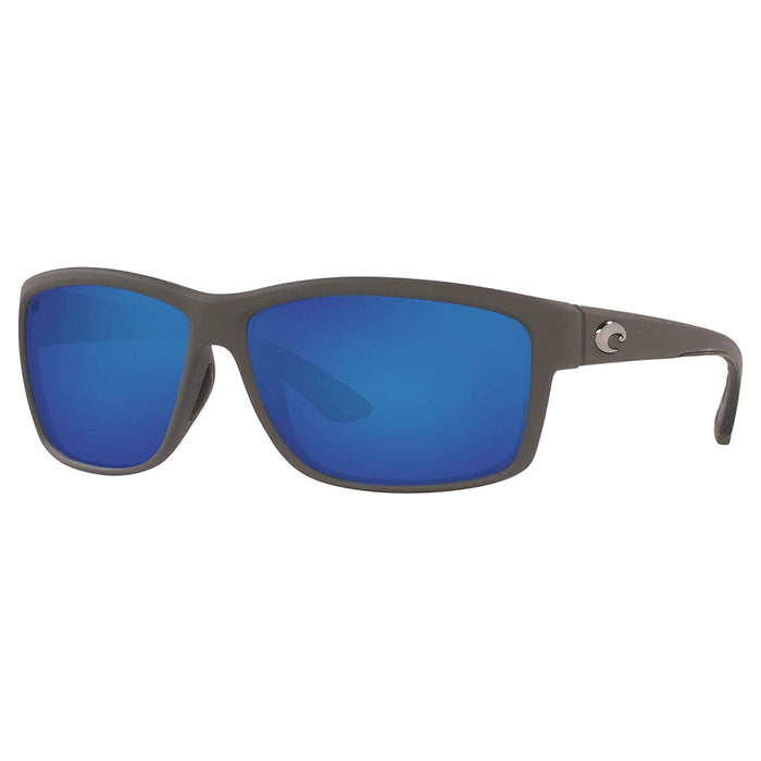 Costa Del Mar Mens Mag Bay Matte Grey Frame Blue Mirror Polarized-580G Sunglasses - AA98OBMGLP