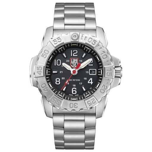 Luminox Men's Navy Seal Steel 3250 Silver Stainless Steel Band Black Dial Quartz Analog Watch - XS.3252.L - WatchCo.com