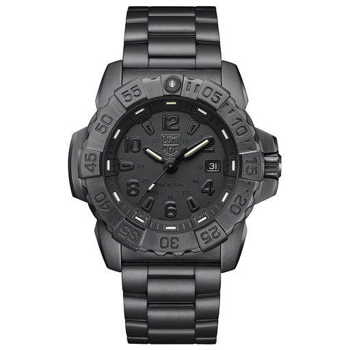 Luminox Men's Navy Seal Steel 3250 Black Stainless Steel Band Black Dial Quartz Analog Watch - XS.3252.BO.L - WatchCo.com