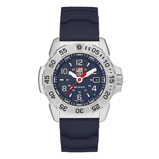 Luminox Men's Navy Seal Steel 3250 Blue Rubber Band Blue Dial Quartz Analog Watch - XS.3253 - WatchCo.com