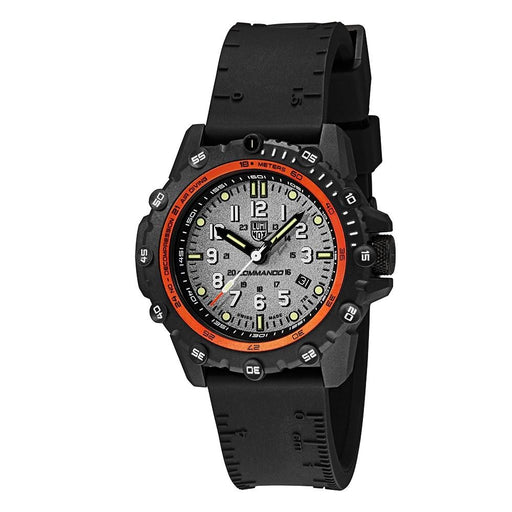 Luminox Men's Commando Frogman 3300 Series Black Rubber Band Grey Dial Quartz Analog Watch - XS.3301 - WatchCo.com