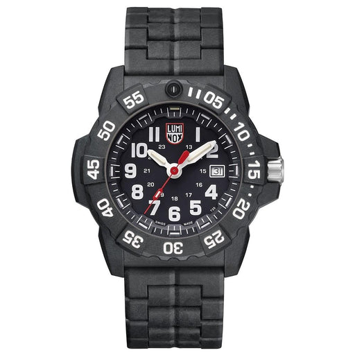 Luminox Men's Navy Seal 3500 Series Black Carbon Bracelet Black Dial Quartz Analog Watch - XS.3502.L - WatchCo.com