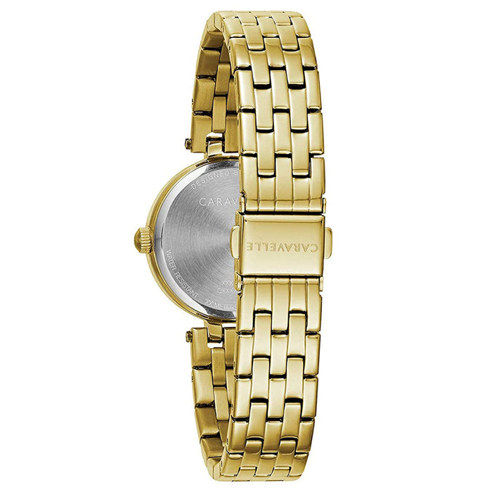 Bulova Womens Caravelle Designed Gold Stainless Steel Dress Watch - 44L243