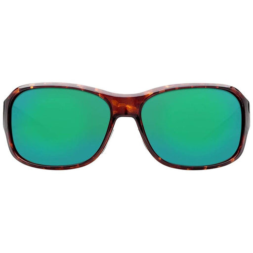 Costa Del Mar Womens Inlet Tortoise Frame Mirror Green Polarized Lens Rectangular Sunglasses - IT10OGMGLP - WatchCo.com