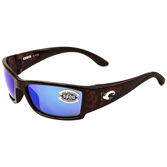 Costa Del Mar Mens Corbina Tortoise Frame Grey Blue Mirror Polarized-580g Sunglasses - CB10OBMGLP
