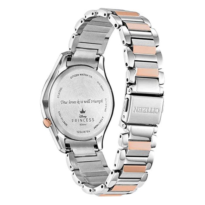 Citizen Womens Eco-Drive Disney Silver Dial Multicolor Band Stainless Steel Dress Watch - EM0594-53W