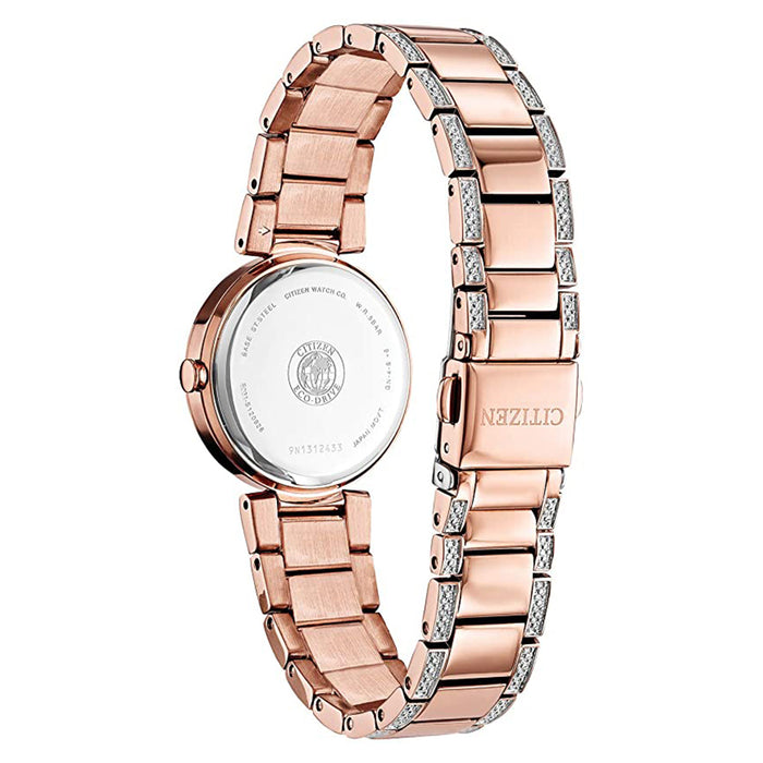 Citizen Womens Silhouette Crystal White Dial Bracelet Dress Watch - EM0843-51D