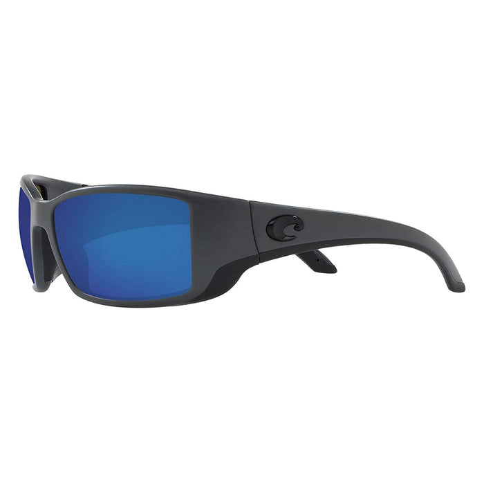 Costa Del Mar Mens Blackfin Matte Grey Frame Blue Mirror Polarized 580g Lens Sunglasses - BL98OBMGLP