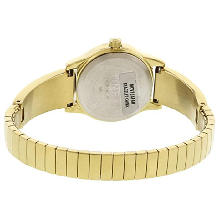 Timex Womens Stretch Bangle Mineral Dial Gold Stainless-Steel Japanese Quartz Fashion Watch - TW2R98500