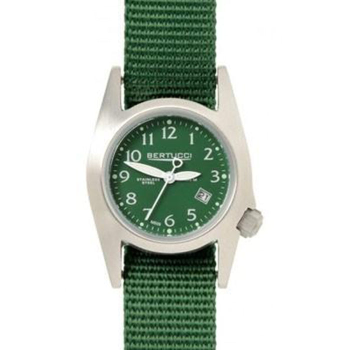 Bertucci Unisex Stainless Steel Case Green Nylon Band Green Dial Round Watch - 18005