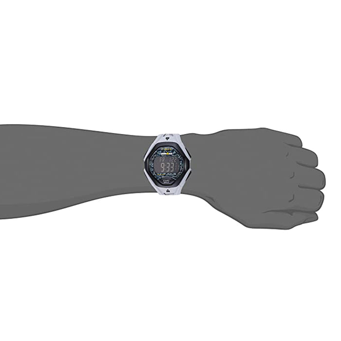 Timex Mens Ironman Black Dial Sleek Gray Band Resin Strap Watch - TW5M238