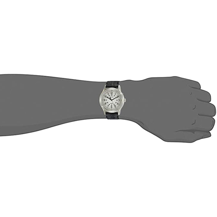 Timex Mens MK1 Grey Dial Black Canvas Strap Watch - TW2R68300