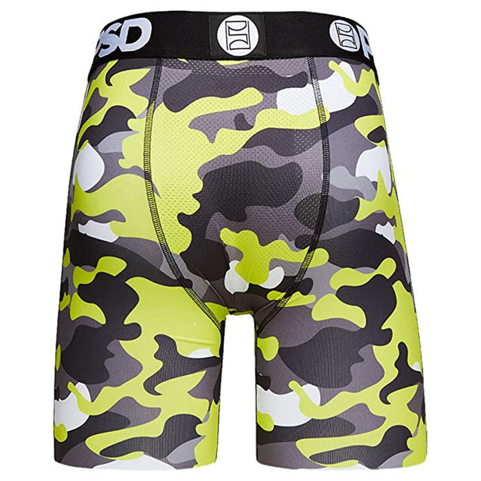 PSD Mens Elastic Elastic Wide Band Boxer Brief Warface Print Breathable Underwear - 22011020-YEL-M